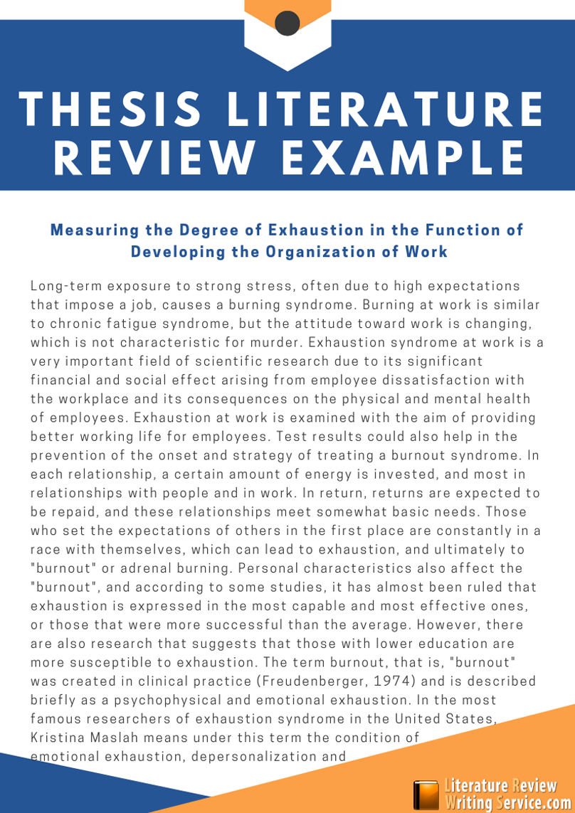Use This Great Thesis Literature Review Example To Learn The New Approaches  For Writing A Powerful Lit Review. See More Exam… | Literature, Thesis, Thesis  Statement