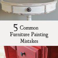 5 erros de quem pinta moveis