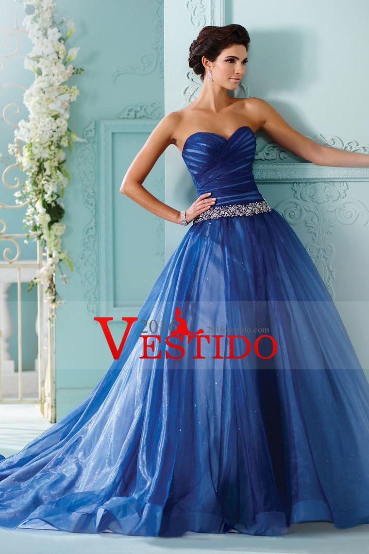 quincenera vestidos de novia de una línea de tul con volantes y