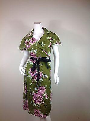 Womens All Handcraft Flower Design Summer Boho Hippie Dress Green