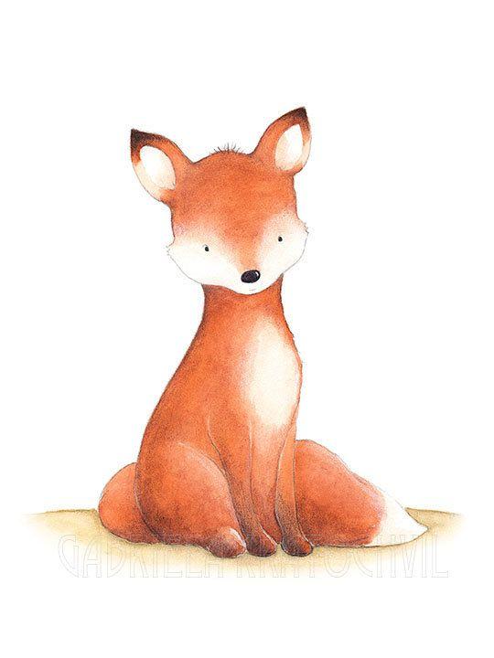 Fox Nursery Wall ArtWoodland Nursery by gabrielakratochvil on Etsy