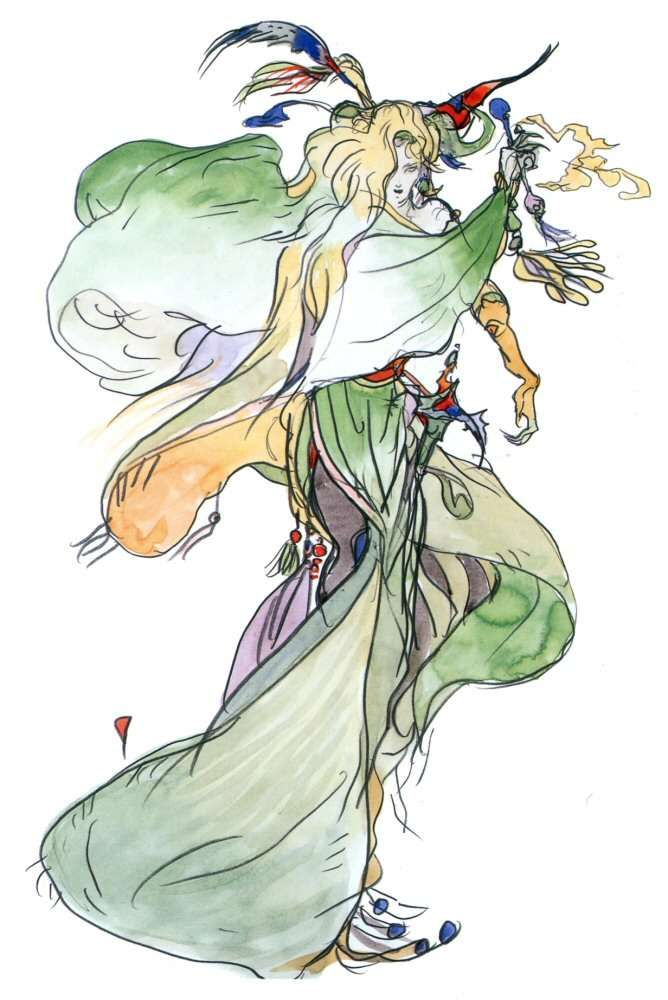 Yoshitaka Amano Sorceress Final Fantasy Iv Final Fantasy Artwork Final Fantasy Art Scifi Fantasy Art