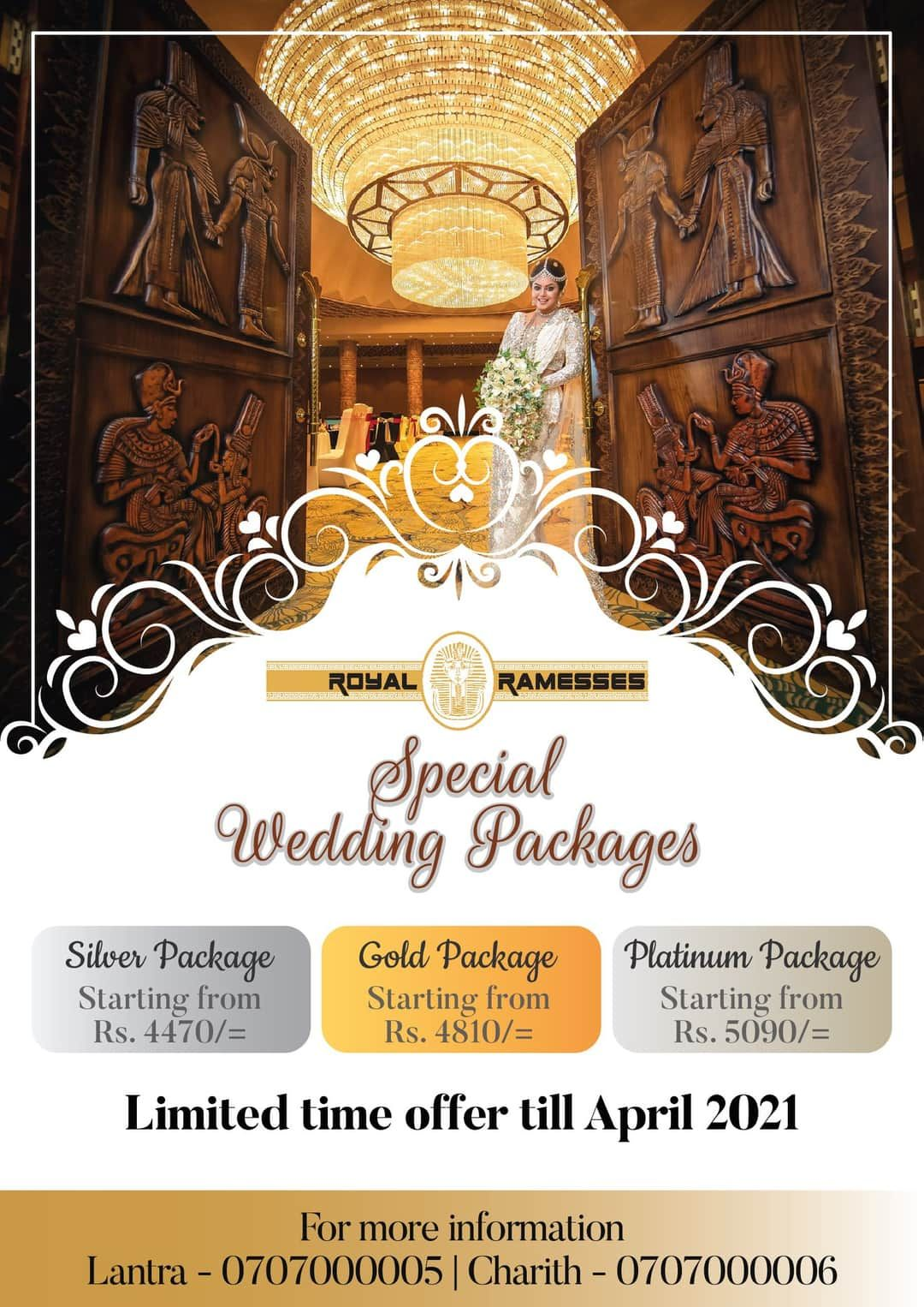 Royal Ramesses Offer Wedding Planning Packages Wedding Package Royal