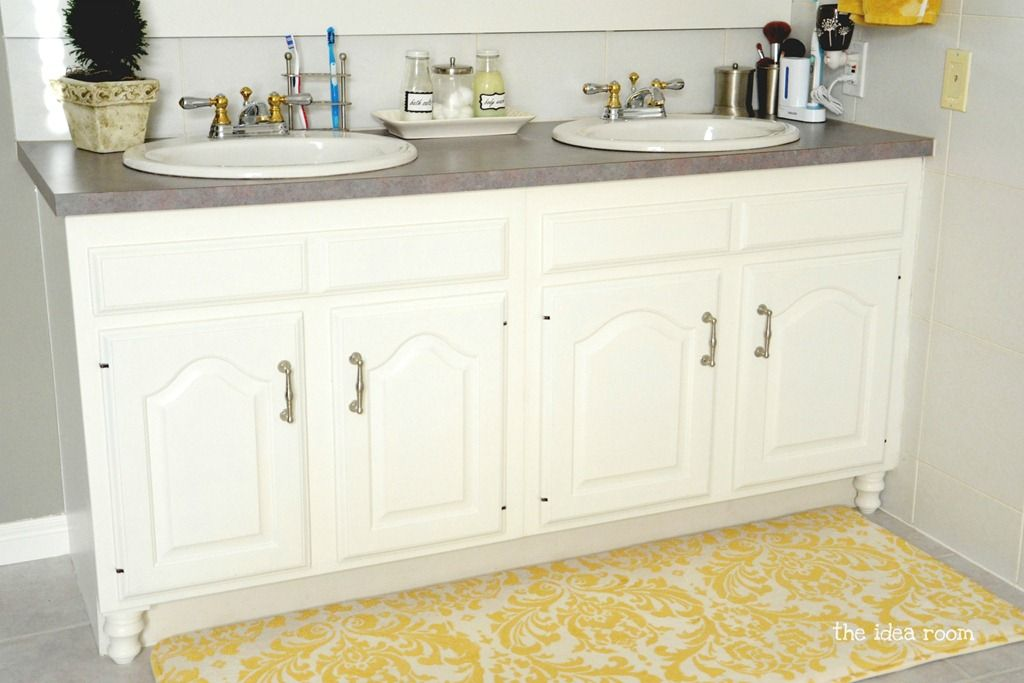 Updating Builder Grade Bathroom Cabinets Bathroom Cabinets Home