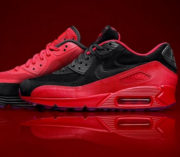 """best website 6ad7e bfd1d Jessie J x Nike Air Max 90 """"Red Rose"""" Pack"""
