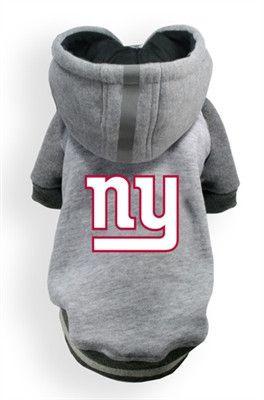 New York GIANTS NFL dog Helmet Hoodie in color Athletic Gray  9c473d084