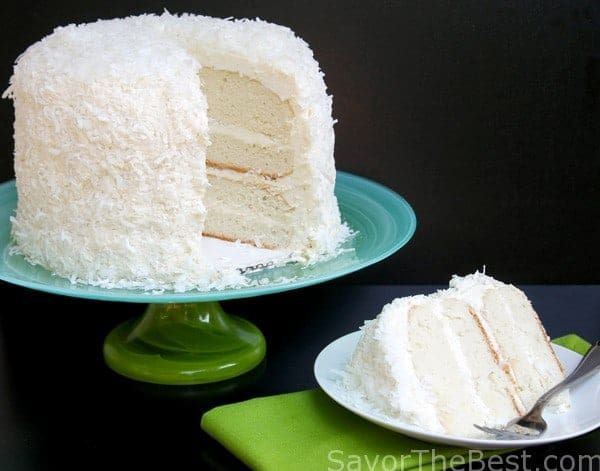 Coconut Cake with Awesome Coconut Butter-Cream Frosting #creamfrosting