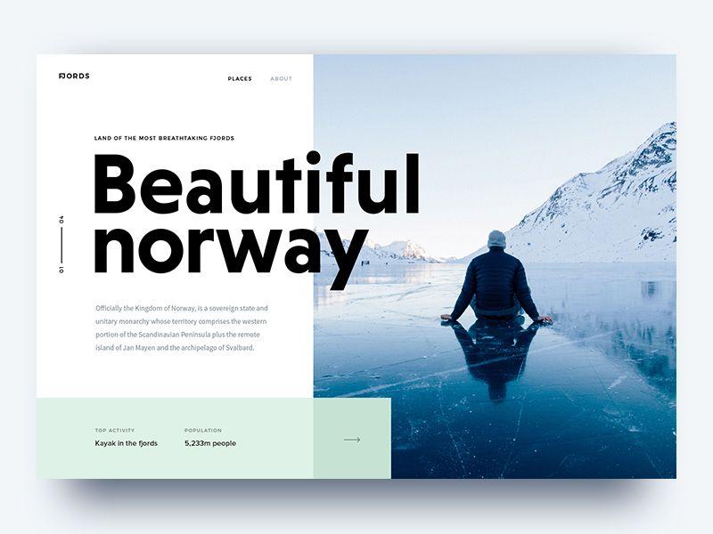 Beautiful Norway Web Design Trends Web Layout Design Web Design Typography