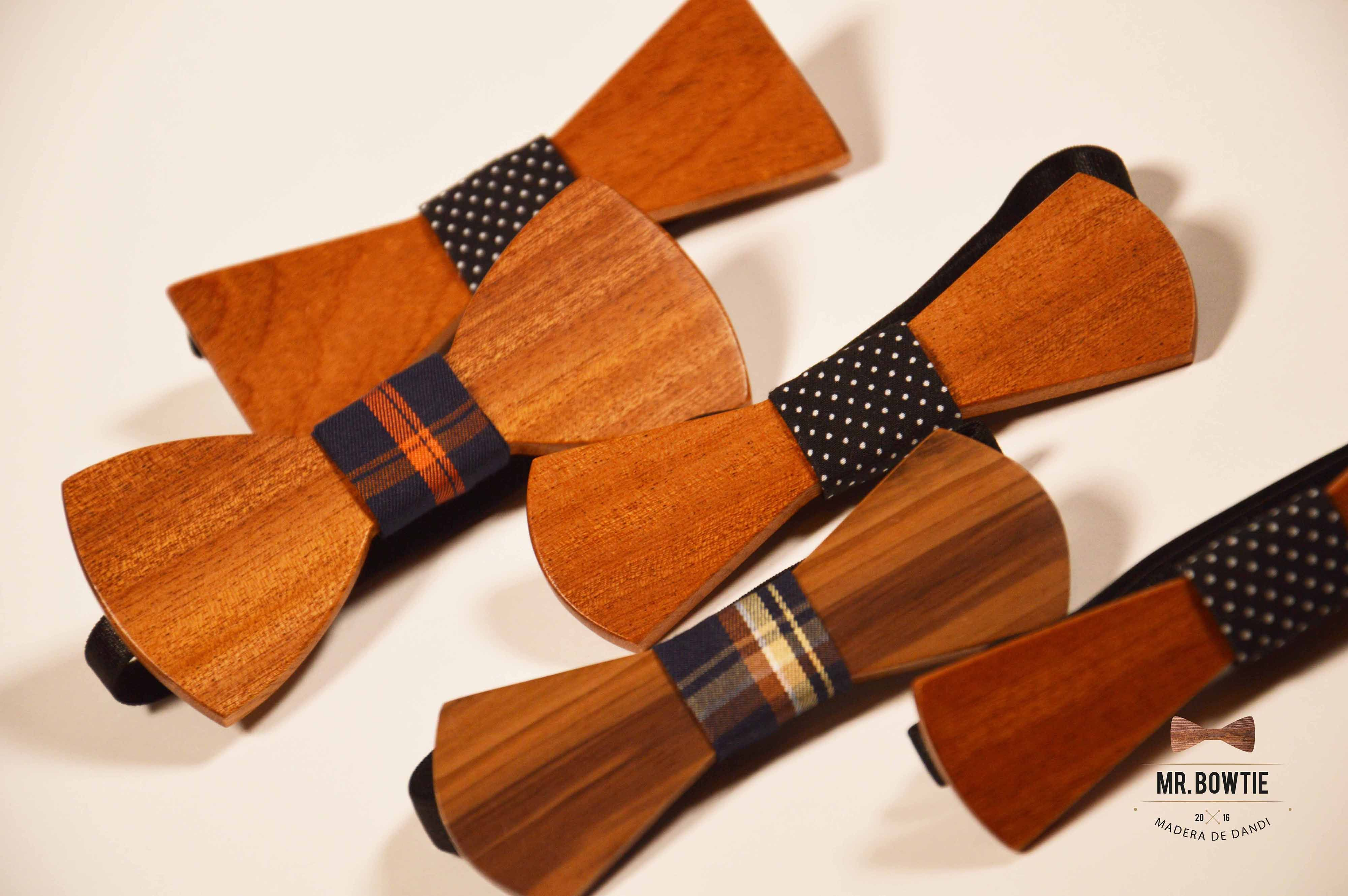 Pajaritas de madera de sapeli | Mr. Bowtie