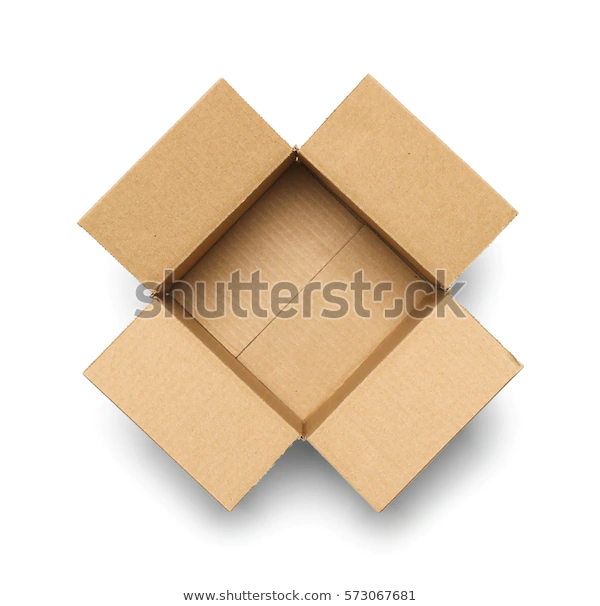 Open Empty Cardboard Box Isolated On Stock Photo Edit Now 573067681 Cardboard Box Stock Images Free Stock Photos