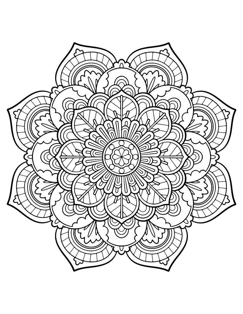 mandala ausmalbilder kostenlos malvorlagen windowcolor zum
