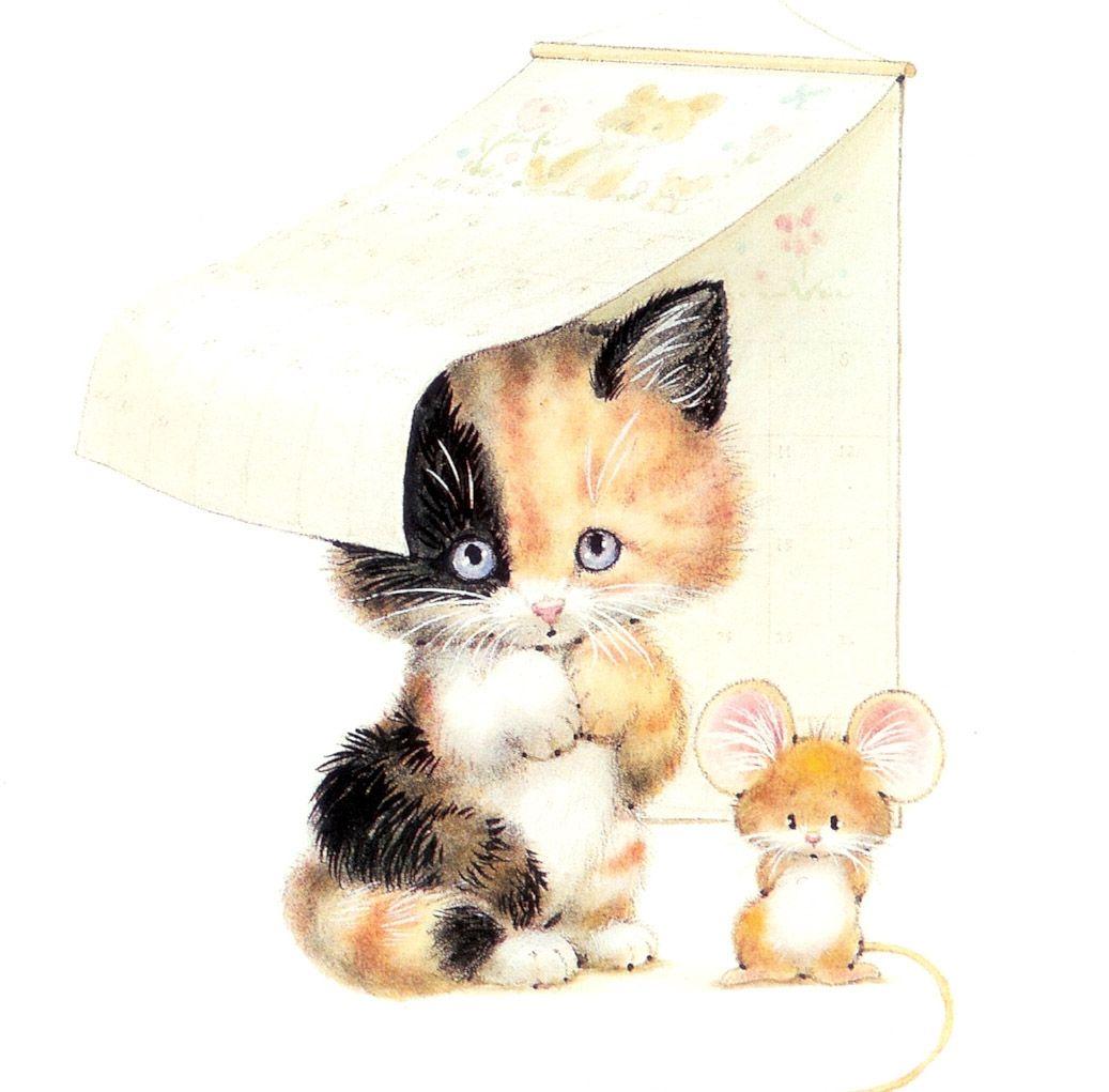 Gato Y Ratón Http Www Silvitablanco Com Ar Ruth Morehead Ruth Morehead Htm Cat Art Illustration Cat Art Cute Art