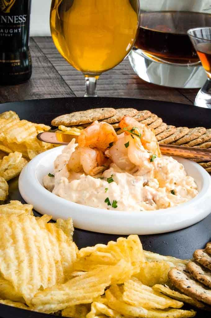 Classic Shrimp dip w cream cheese is easy to make with simple ingredients of cream chee