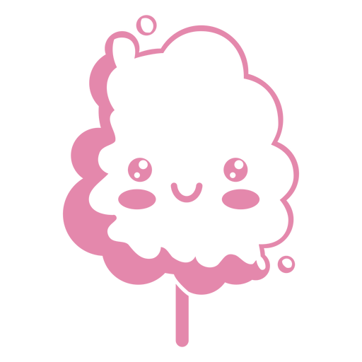 Kawaii Cotton Candy Pink Ad Paid Affiliate Cotton Candy Pink Kawaii Candy Logo Pink Cotton Candy Graphic Design Art