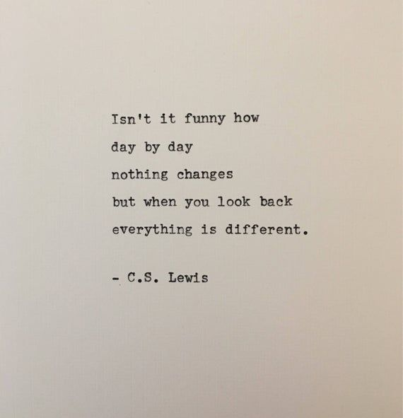 C.S. Lewis quote typed on typewriter - unique gift