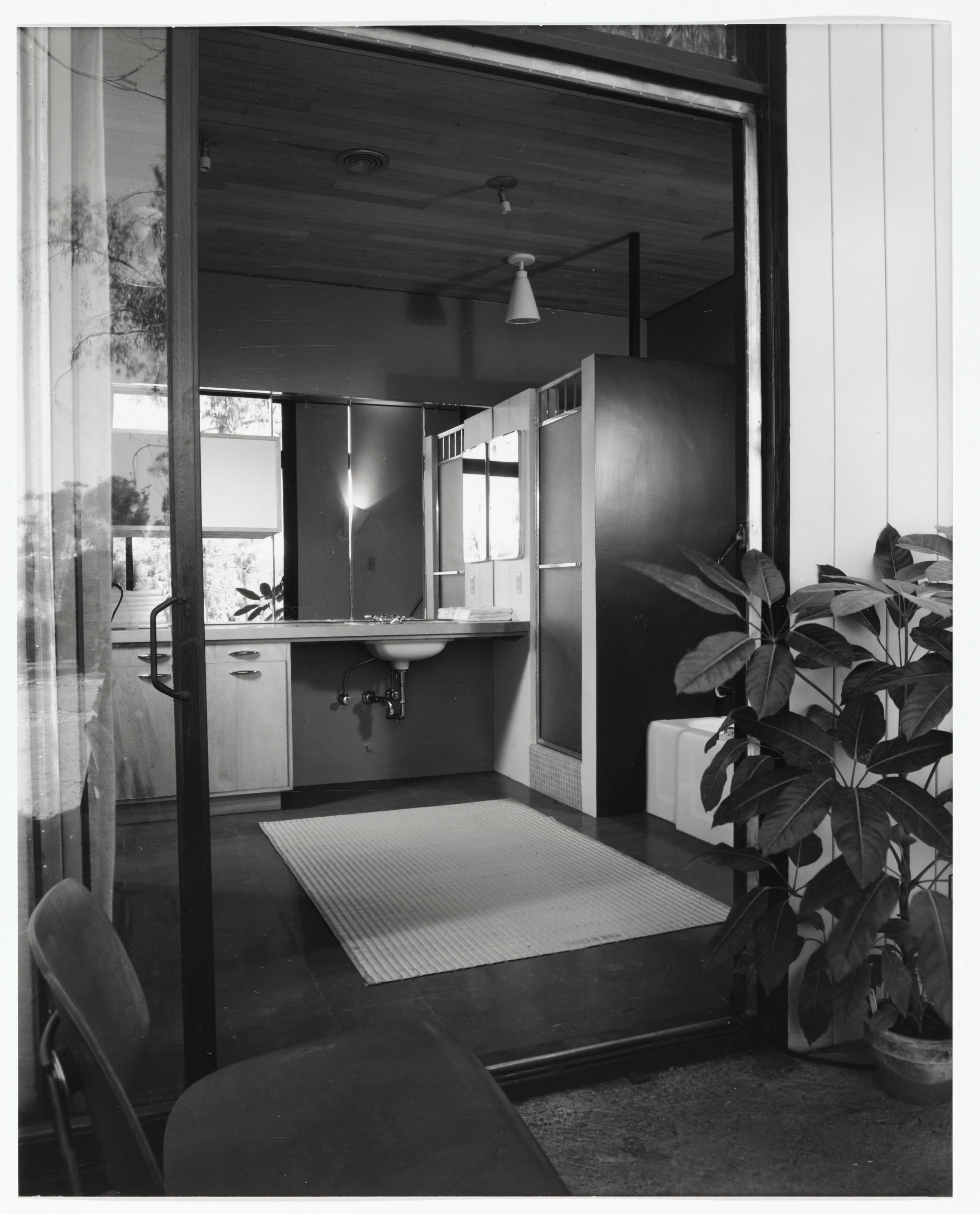 918e2f3eac Bathroom of Case Study House No. 9. Architects Charles Eames and Eero  Saarinen Photography by Julius Shulman