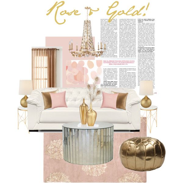 Pin by Jaimie Spray on Rose gold living room | Gold living ...