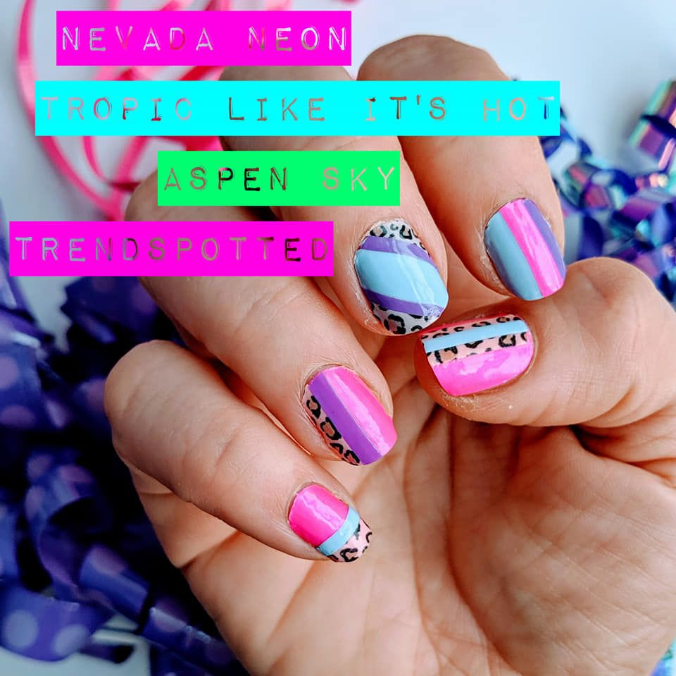 80s Themed Manicure 80s Costume Ideas Halloween Nail Polish 80s Party Ideas Color Street Color Street Nails Nail Polish Halloween Nails