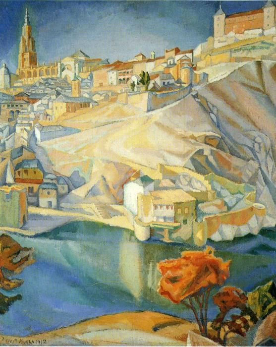 Diego Rivera - View of Toledo, 1912, oil on canvas/ This is so pretty, love the colors!