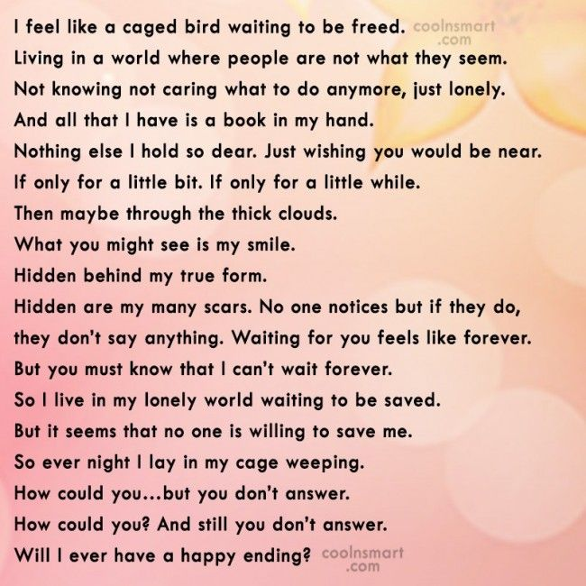 Loneliness Quote: I feel like a caged bird waiting... | Quotes ...