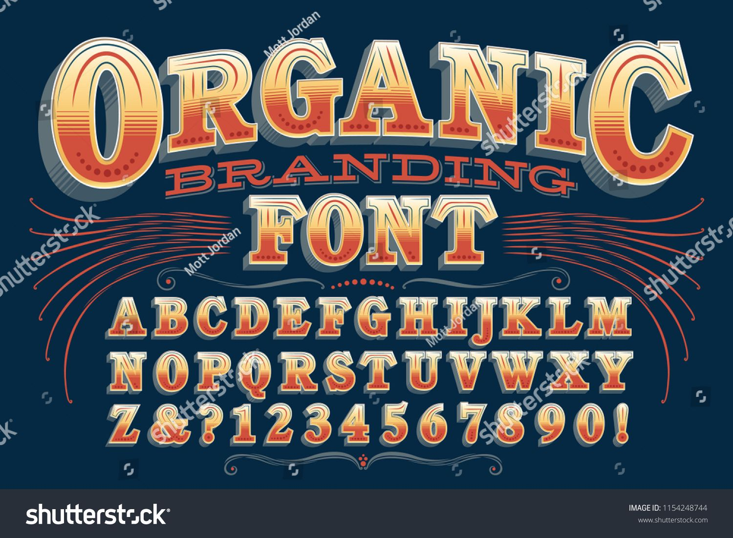 An Ornate Vintage Alphabet Perfect For Organic Products Or