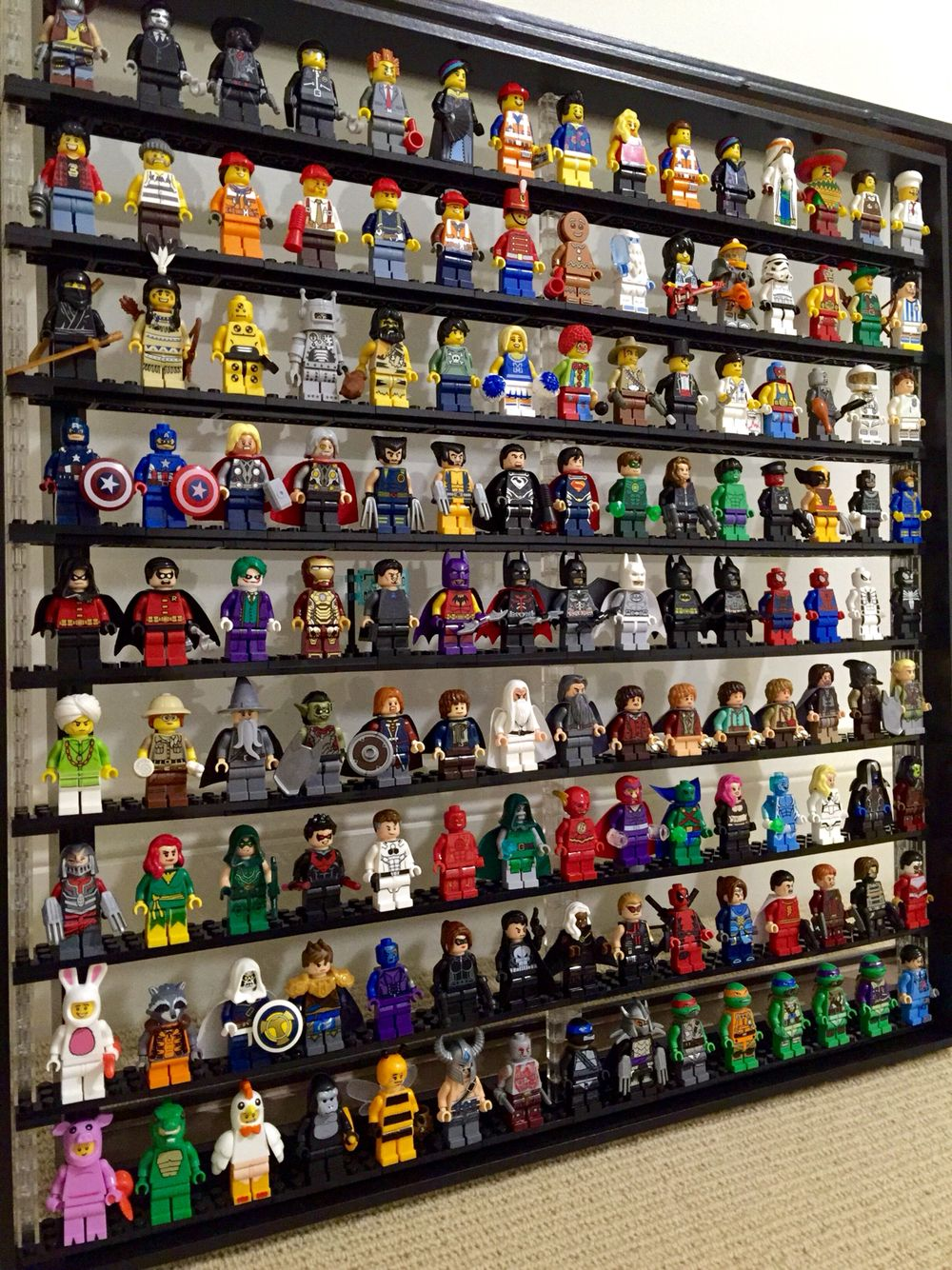 Lego Minifigure Display Case using IKEA Ribba Frame - Great Idea ...