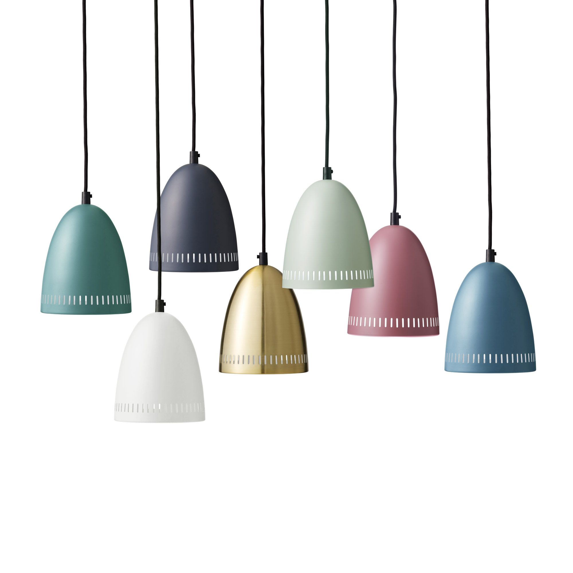 Super Living MINI DYNAMO - Lampa wisząca Zielony pastelowy mat Ø16cm ...