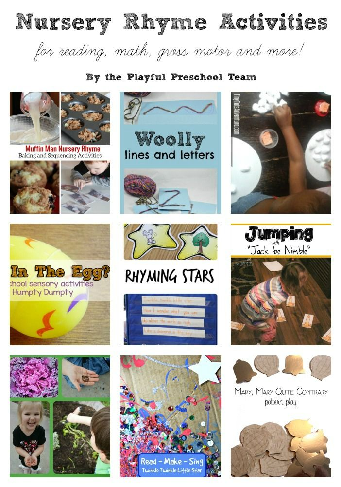 10 Nursery Rhyme Crafts And Activities For Preschoolers Reading Math Gross Motor