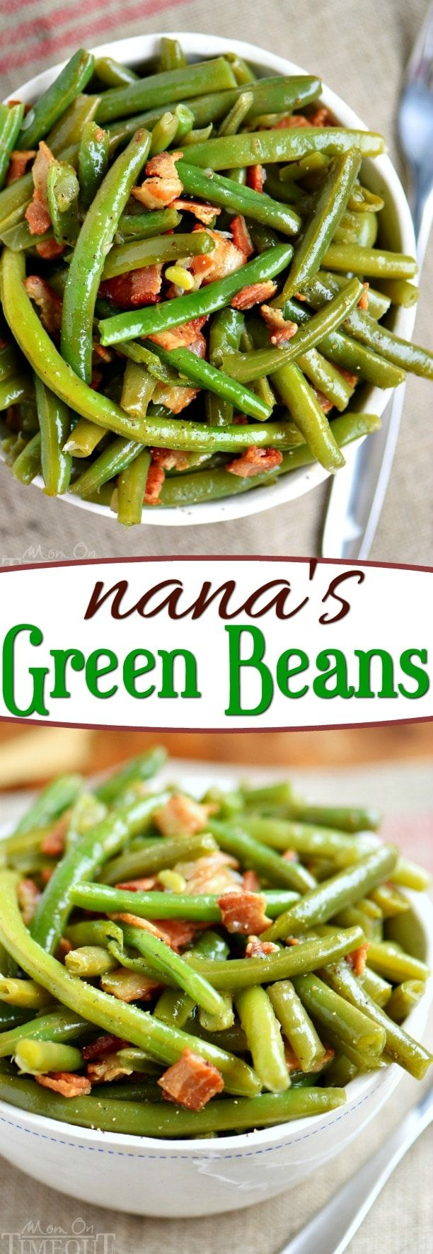 My Nana's Famous Green Bean recipe! Made with just a handful of ingredients including bacon, this e