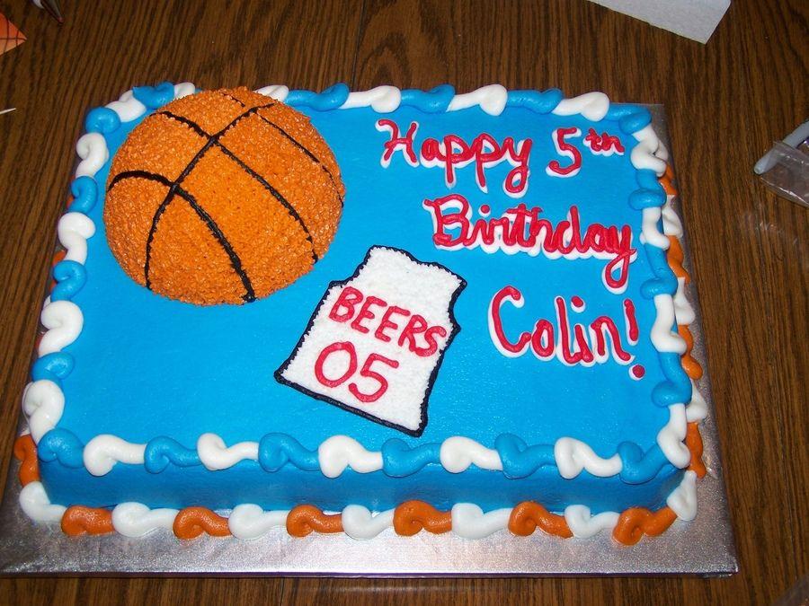 Fantastic Basketball Cake Basketball Cake Basketball Birthday Cake Boy Personalised Birthday Cards Sponlily Jamesorg