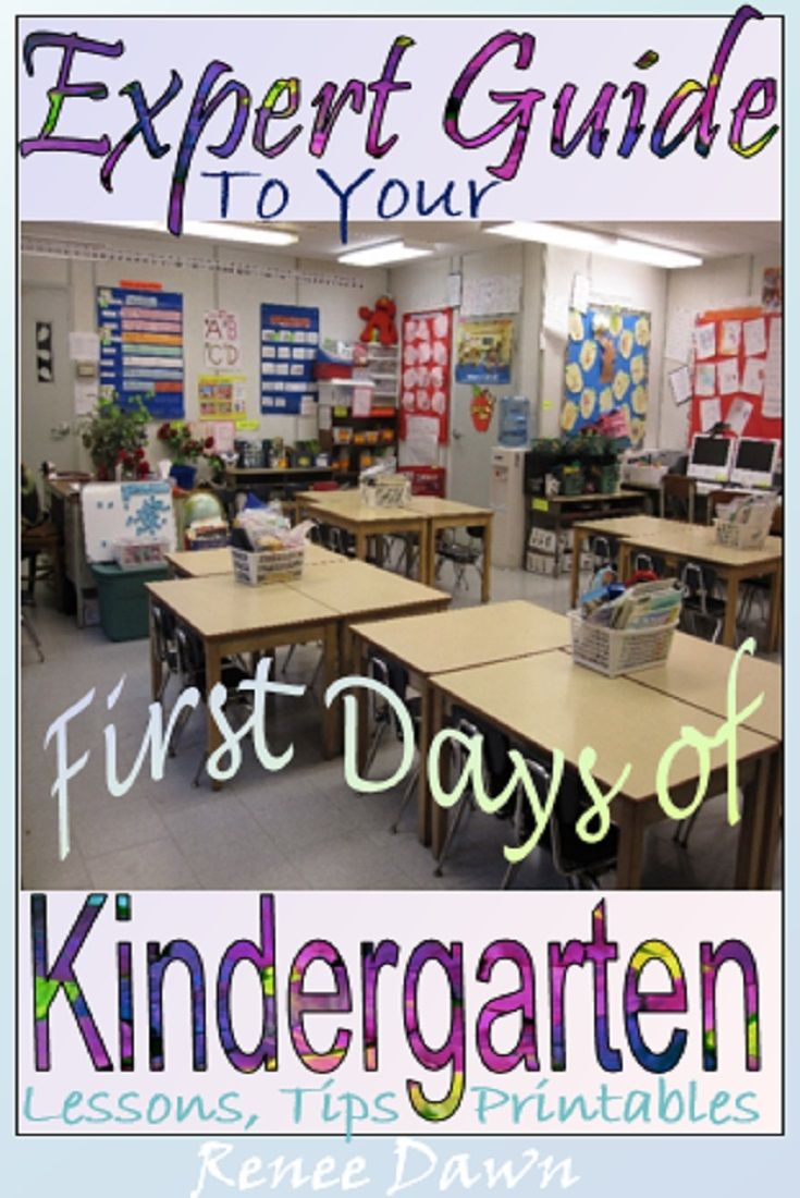 First Days of Kindergarten – teacher scripts, lessons, posters, printables  and tips.