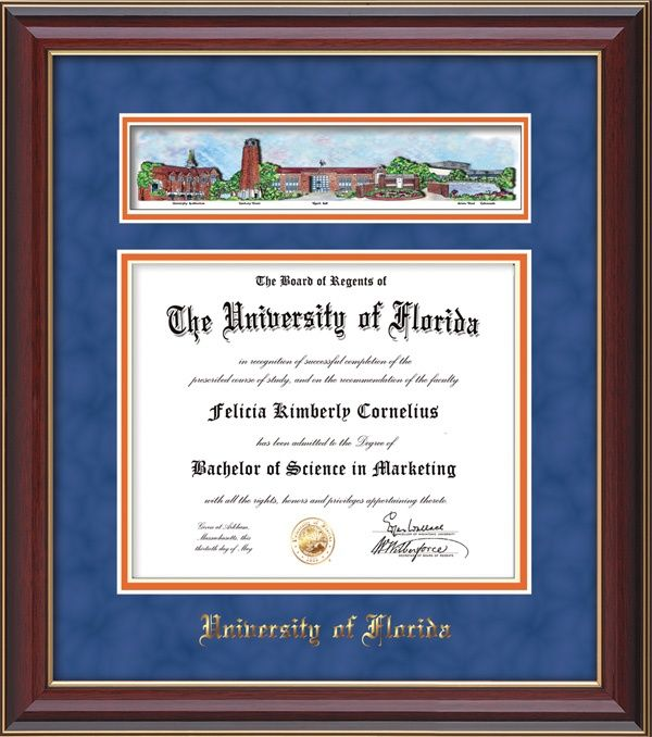 university of florida degree frame | University of Florida Diploma ...