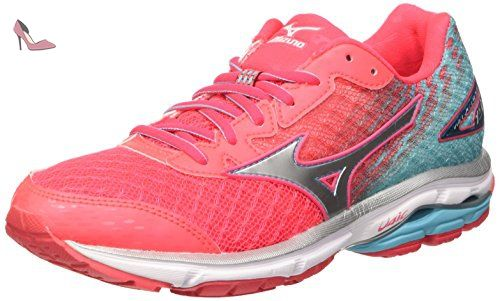Mizuno Wave Mujin 3 (w), Chaussures de Running Compétition Femme, Rose (Diva Pink/Silver/Persian Red), 38 EU