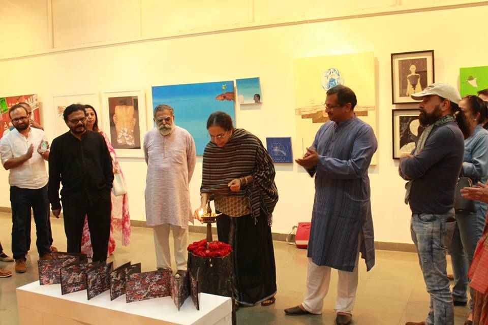 Art Exhibition At The Arpana Art Gallery By Wsd Fashion Designing Course
