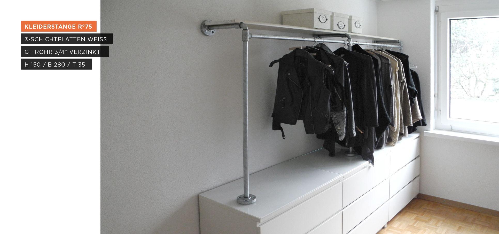 Begehbarer Kleiderschrank Kleiderstange Auf Sideboard