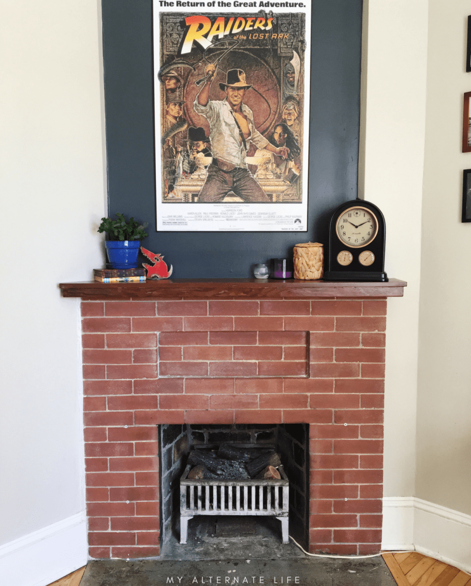 How to strip paint from brick fireplace my alternate life