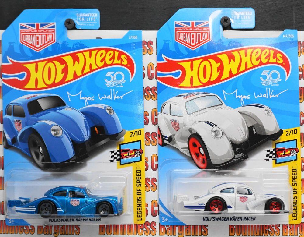 cba55643cd8469 HOT WHEELS LOT OF 2 2018 VOLKSWAGEN KAFER RACER LEGENDS OF SPEED VW BLUE    WHITE  HotWheels  Volkswagen