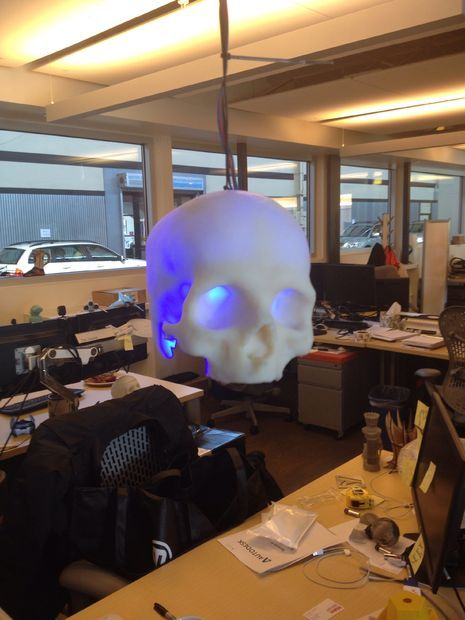 Picture of SKULLpilepsy!!! 3D printed LED lamp.
