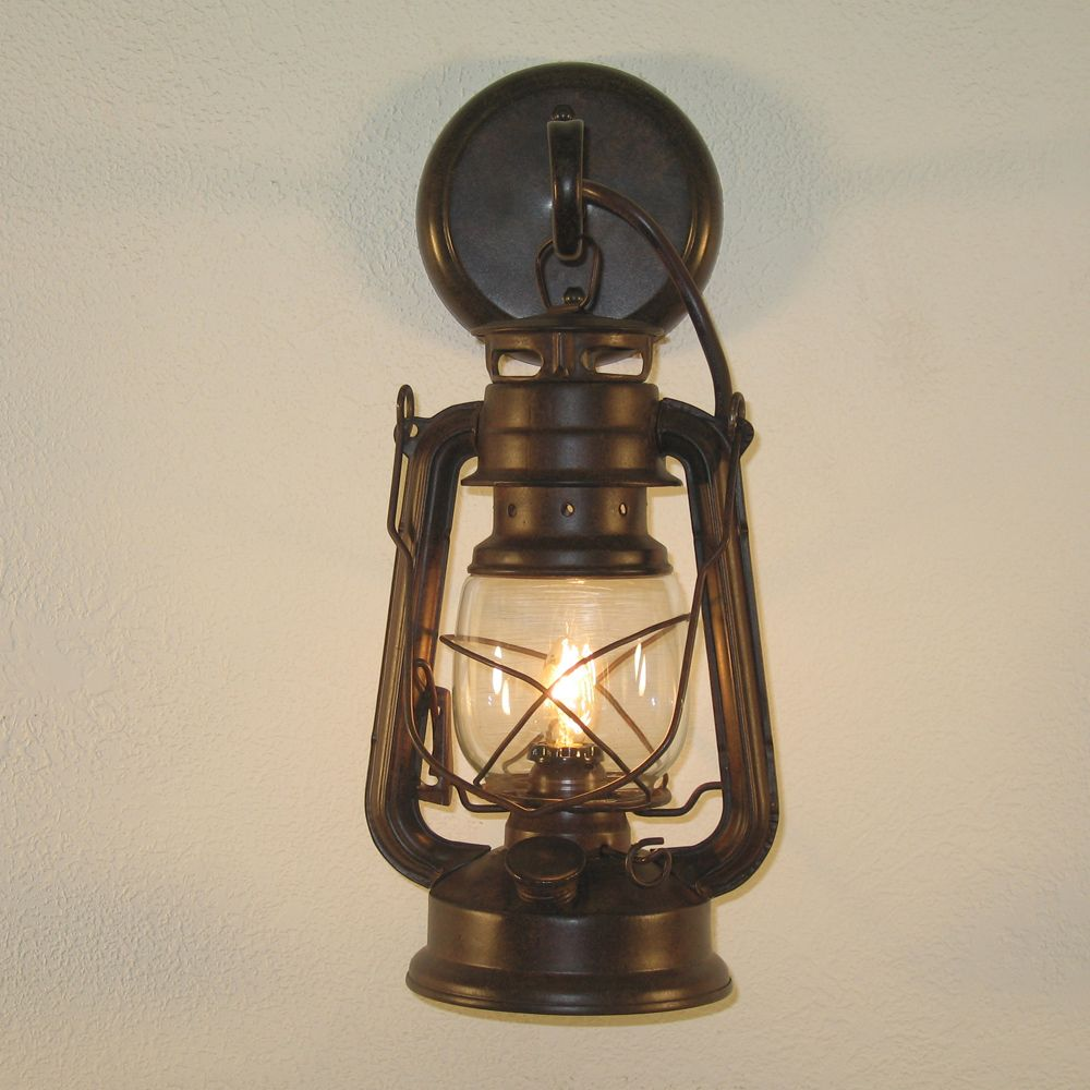 Small Rustic Lantern Wall Sconce Bathrooms