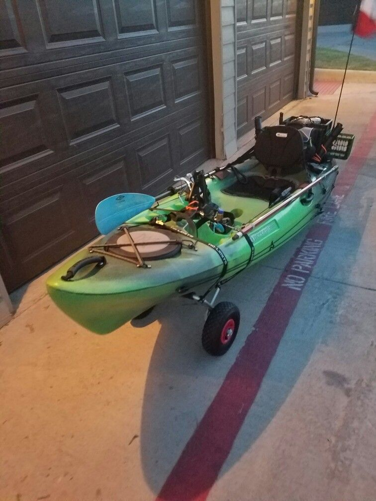 My Yak About 500 Bucks All Together For The Perception Pescador 10 And All The Mods Everything You Need Is At Academy Angler Kayak Kayak Fishing Kayaking