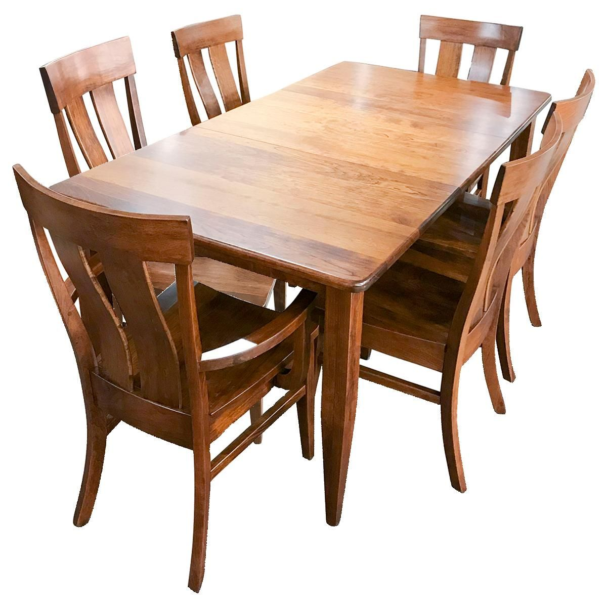 Daniel S Amish Collection Franklin 7 Piece Dining Set In Michael S Cherry Nebraska Furniture Mart 7 Piece Dining Set Dining Dining Set