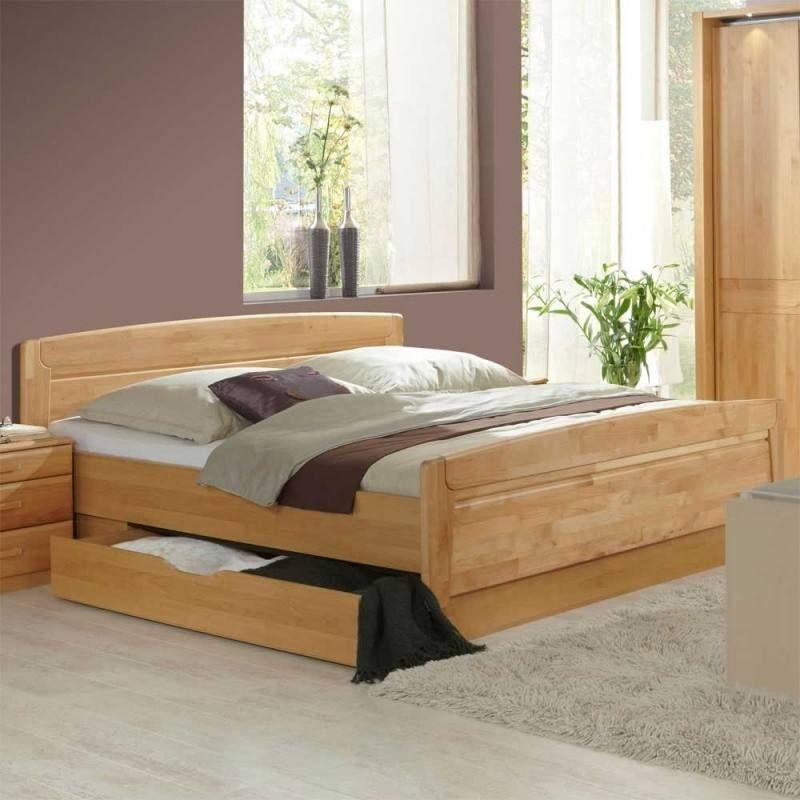 Schlafzimmer Bett Kleiderschrank massiv teilmassiv