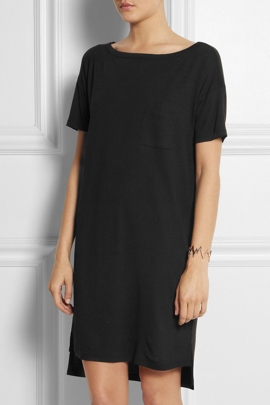 T By Alexander Wang Classic Jersey T Shirt Dress Net A Porter