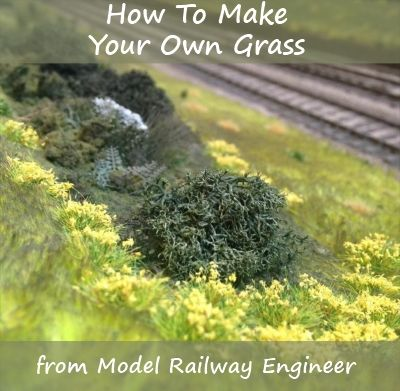 How To Make Your Own Grass Model Train Scenery Model Railway Model Trains