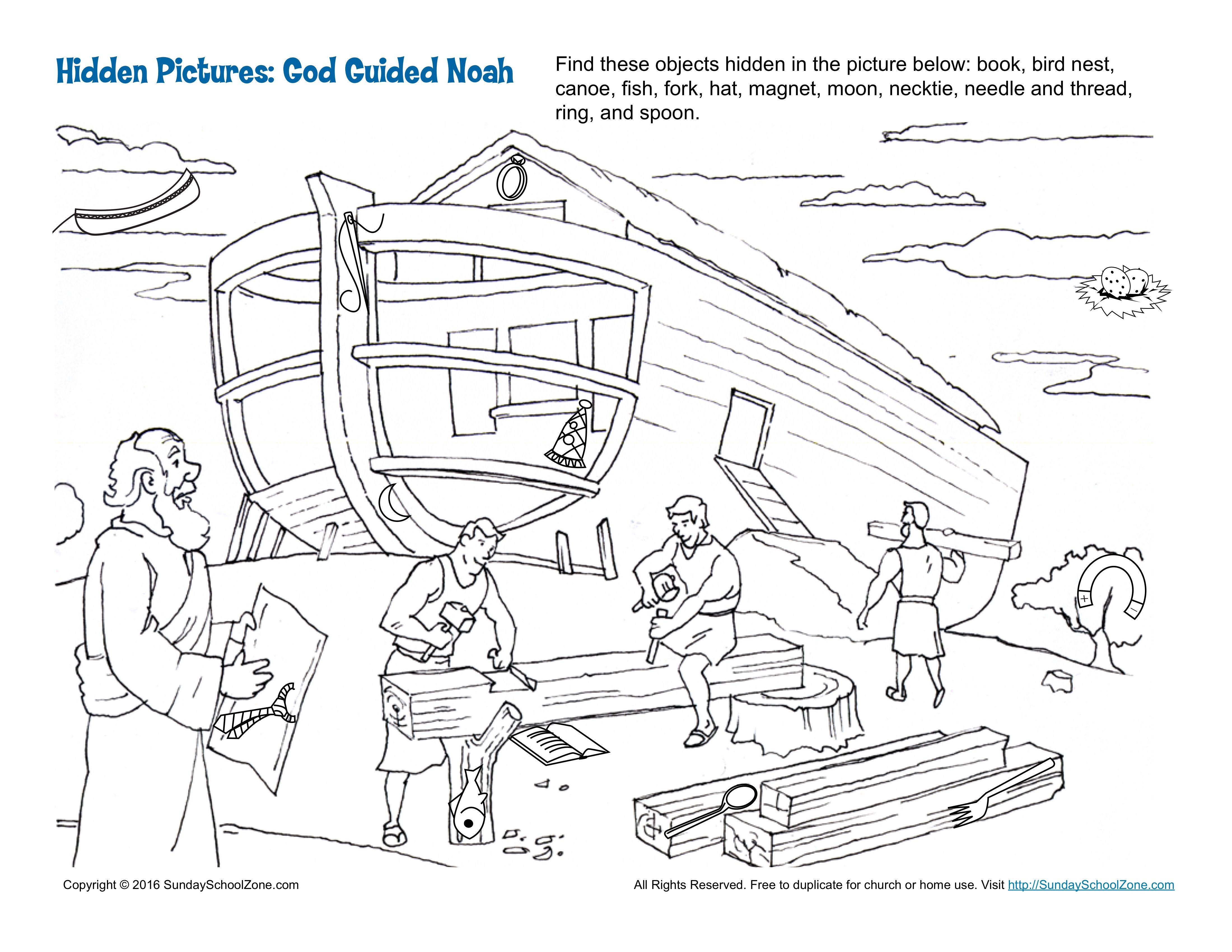 God Guided Noah Hidden Pictures