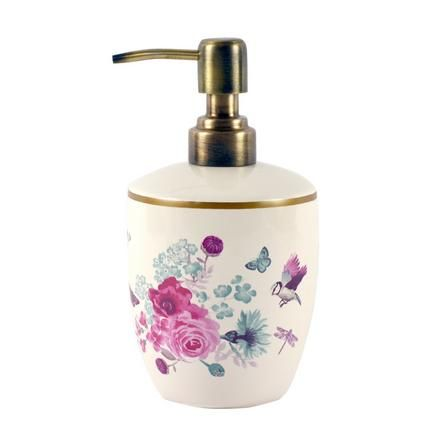 Flora And Fauna Collection Lotion Dispenser Dunelm Lotion Dispenser Ceramic Lotion Dispenser Floral Bathroom