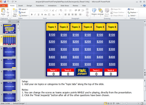 jeopardy powerpoint game template | classroom | pinterest, Modern powerpoint