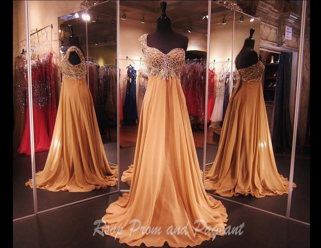 One Shoulder Cognac Long Dress