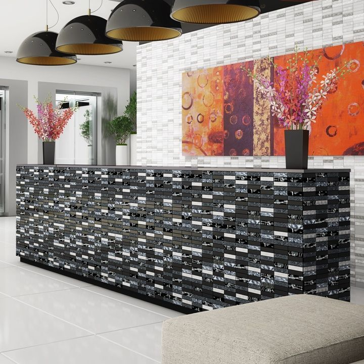 Stunning Grey, Silver And Black Mosaic Tiles Ideal As Mosaic Kitchen Tiles  Or Mosaic Bathroom