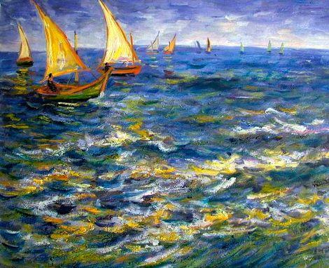 Vincent van Gogh, Seascape at Saintes Maries-de-la-Mer on ArtStack #vincent-van-gogh #art